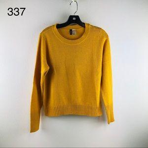 4/$16 H&M Mustard Yellow Soft Knit Sweater Size S